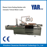 Pharma Carton Packing Machine with Automatic Vertical Blister Loader